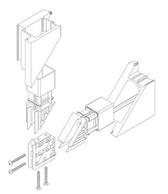 Inoutic-Hausturen-Eckverbinder